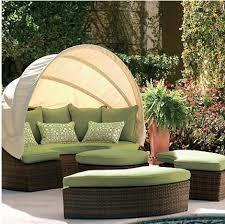Outdoor Wicker Sofa Set Round Sofa With Canopy In My Dreams - Round outdoor sofa