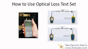 fiber optic loss test set