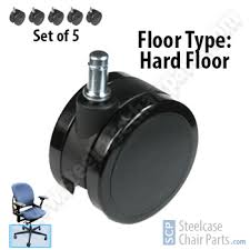 steelcase leap chair hard floor casters set of 5 59 99