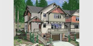 daylight basement home plans hillside home plans with basement sloping lot house plans