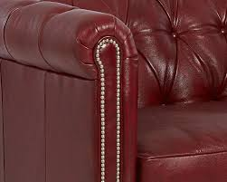 american made tufted leather chair and a half cl4440