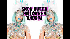 snow queen halloween makeup tutorial the gypsy shrine youtube