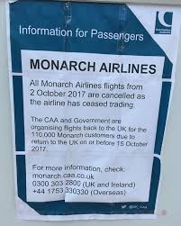 Hit The Floor Cancelled - monarch airlines goes into administration leaving 110 000