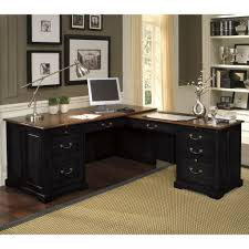 Black Corner Computer Desk With Hutch by Black Glass Corner Computer Desk Executive Home Office Furniture