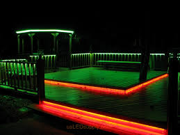 Led Strip Lighting Outdoor by Led Deck Lighting With Rgb Flexible Led Strips Under Railings And