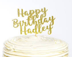 birthday cake topper personalized happy birthday cake topper glitter birthday cake