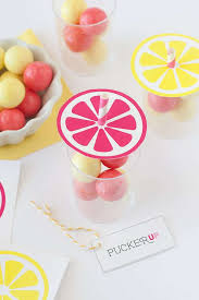 Gumball Party Favors Free Lemonade Printables Diy Gumball Party Favors