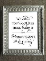 In Memory Of Wedding Program Wedding Sign In Memory Of Loved Ones Be Here Today Heaven Wood