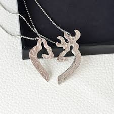 Buck And Doe Couples Necklace Deer Couples Necklaces Her Buck His Doe Shopping Loco