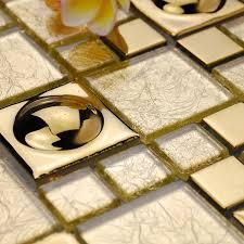 Stainless Steel Backsplash Sheet Of Stainless Steel by Wholesale Vitreous Mosaic Tile Backsplash Gold 304 Stainless Steel