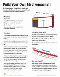 electricity worksheets education com