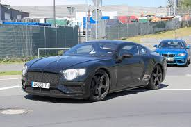 blue bentley 2016 2018 bentley continental gt latest spy shots gtspirit