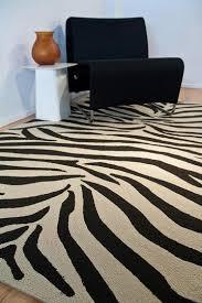 Zebra Outdoor Rug Animal Print Pattern Indoor Outdoor Rug Ebony White 5in X 7ft
