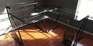 Z Line Belaire Glass L Shaped Computer Desk Best Computer Desk For Gaming Or Office Reviews On Bestadvisor Com