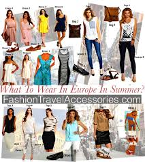 travel clothing images What to wear in europe in summer travel packing tips jpg