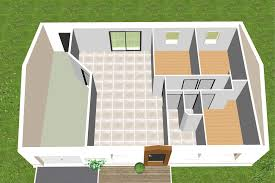 plan de maison 3 chambres salon maison de plain pied rectangle 3 chambres cp06