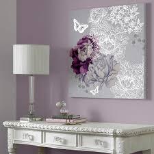 Purple And Silver Bedroom Graham U0026 Brown Floral Metallic Canvas Wall Art 60x60cm