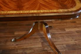 large high end mahogany reproduction dining room table seats 12 14