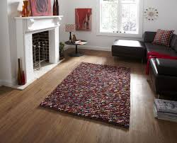 Modern Shaggy Rugs Multi Coloured Pb 10 Knotted Modern Shaggy Rug
