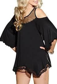 women plus size lace babydoll chemise lingerie night shirt
