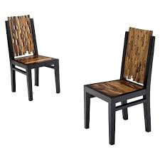 Rustic Industrial Dining Chairs Contemporary Wooden Dining Chair Rustic Log Reclaimed