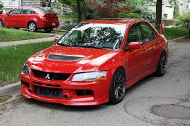 red mitsubishi lancer evolution viii mitsubishi pinterest