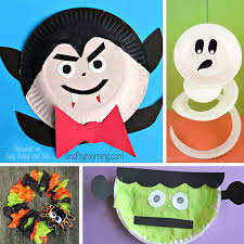 Fun Halloween Crafts - halloween paper plate crafts for kids easy peasy and fun