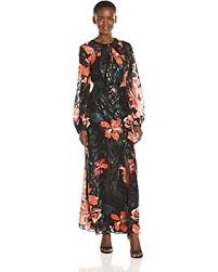 bargains on guess women u0027s long sleeve lisbeth floral print maxi