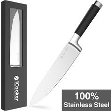 amazon com icooker 8 inch chef knife stainless steel