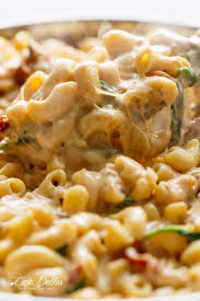 tuscan chicken mac and cheese is a one pot dinner made on the