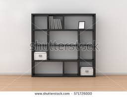 Bookcase Shelves Wooden Bookcase Shelves On Wheels Isolated Stock Illustration