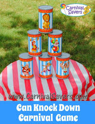 Backyard Picnic Games - easy carnival game can knock down perfect for your backyard