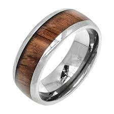 8mm ring tungsten koa wood 8mm ring wedding bands jewelry