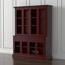 2 Shelf Bookcase With Doors Bookcases With Doors Crate And Barrel