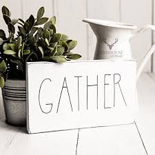 rustic gather sign rustic wood sign farmhouse sign inspired