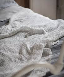 soft jacquard linen throw the linen works london