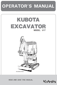 kubota u17 excavator operator u0027s manual california garton