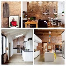 deco loft americain mur de briques cuisiner pinterest murs de briques