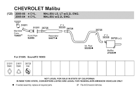 2004 chevy malibu exhaust system diagram 28 images chevrolet