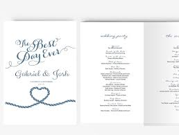 nautical wedding programs wedding program template editable word template instant