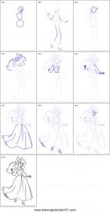 draw ariel mermaid step step drawing