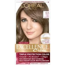 light ash brown hair color l oreal paris excellence non drip crème 6a light ash brown 1