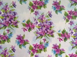 floral gift wrapping paper vintage gift wrapping paper purple violets bouquets floral