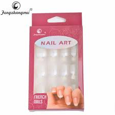 wholesale fengshangmei instant french nail tips fake nails with