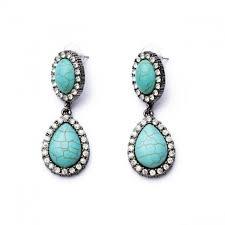 turquoise earrings studs turquoise teardrop dangle statement stud earrings