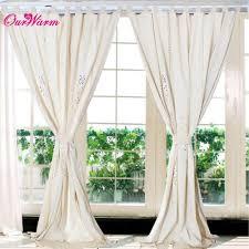 curtains tab top linen lace crochet curtain 1 8cm width valance