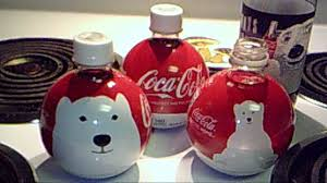 coca cola ornament bottles