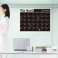 month planner chalkboard wall stickers calendar blackboard month planner chalkboard wall stickers calendar blackboard for bedroom office classroom decoration