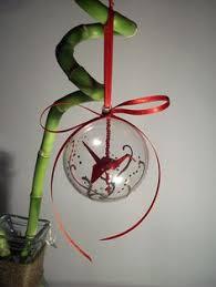 origami crane mobile in glass ornament crafty