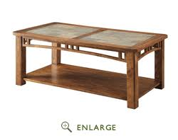 Slate Top Coffee Table Top Coffee Table In Light Oak Coaster 703328
